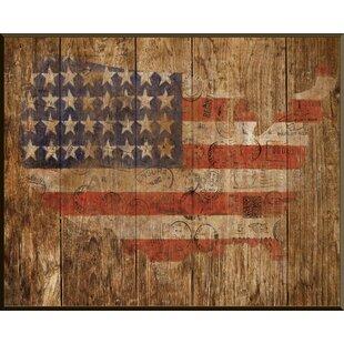 American Flag Framed Graphic Art