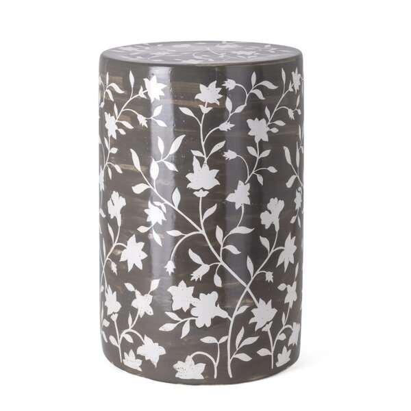 Kuhnhenn Handpainted Garden Stool by World Menagerie World Menagerie