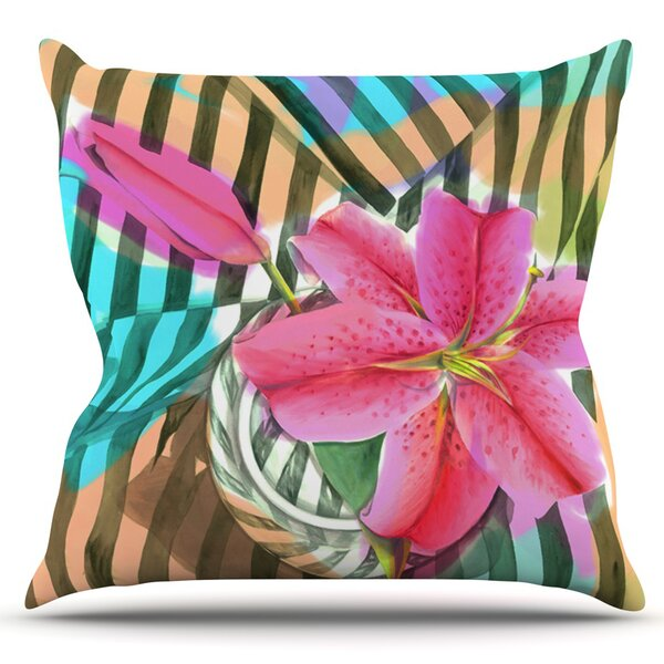 Lilly n Stripes by S. Seema Z Outdoor Throw Pillow by East Urban Home