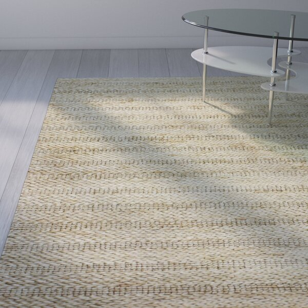 Attleboro Hand-Woven Natural Area Rug by Wade Logan