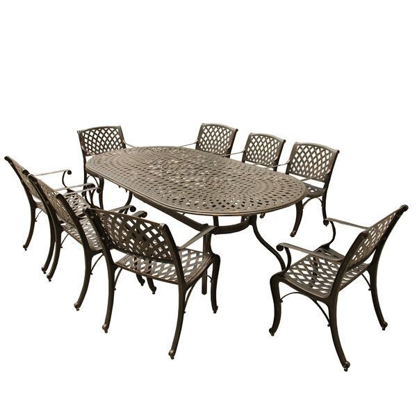 Siffel 9 Piece Dining Set by Darby Home Co