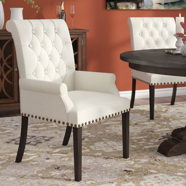 #1 Bumgardner Upholstered Dining Chair By Three Posts No Copoun