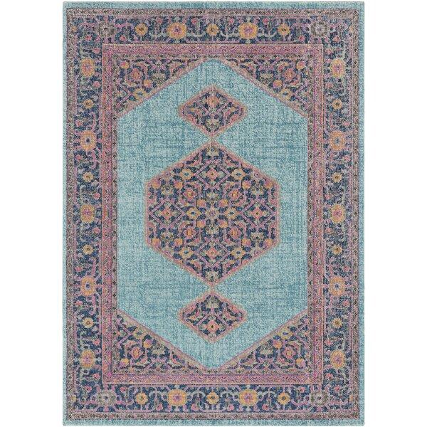 Arabi Tibetan Pink/Blue Area Rug by Bungalow Rose
