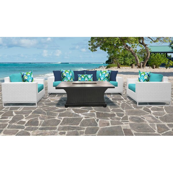 Miami 6 Piece Sofa Seating Group with Cushions by TK Classics