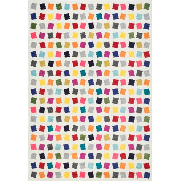 Baynard Yellow/Blue/Pink Area Rug by Harriet Bee