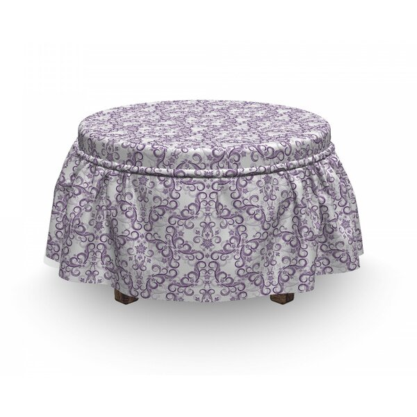 Baroque Floral Swirls Ottoman Slipcover (Set Of 2) By East Urban Home