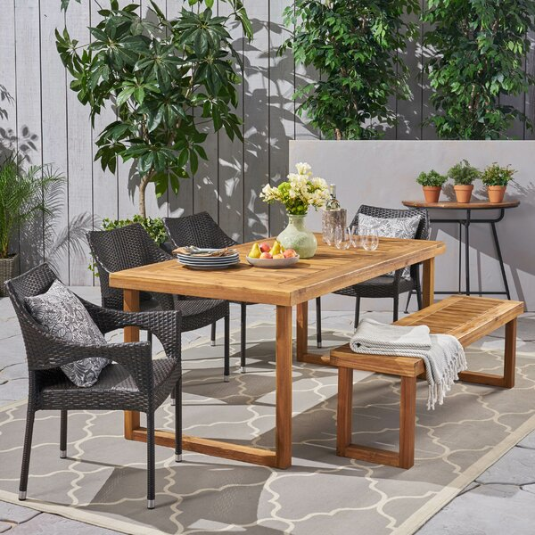 Clermt Outdoor 6 Piece Dining Set By Brayden Studio
