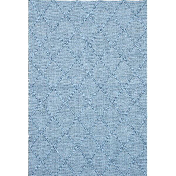 Diamond Handmade Blue Area Rug by ECARPETGALLERY