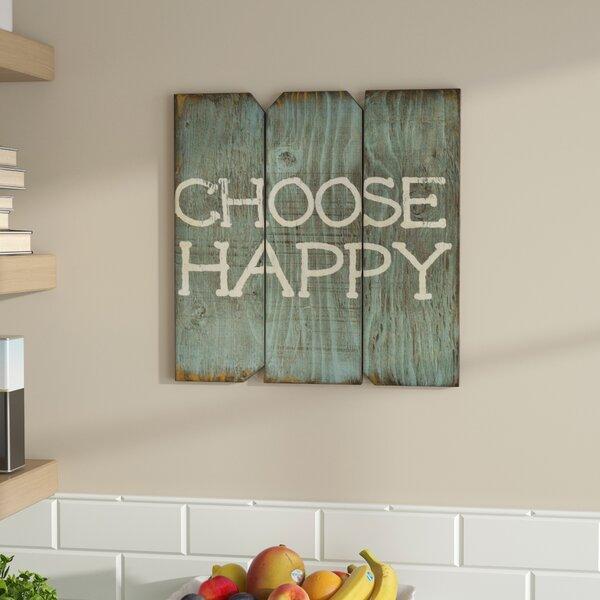 Choose Happy Wood Wall Décor by Zipcode Design