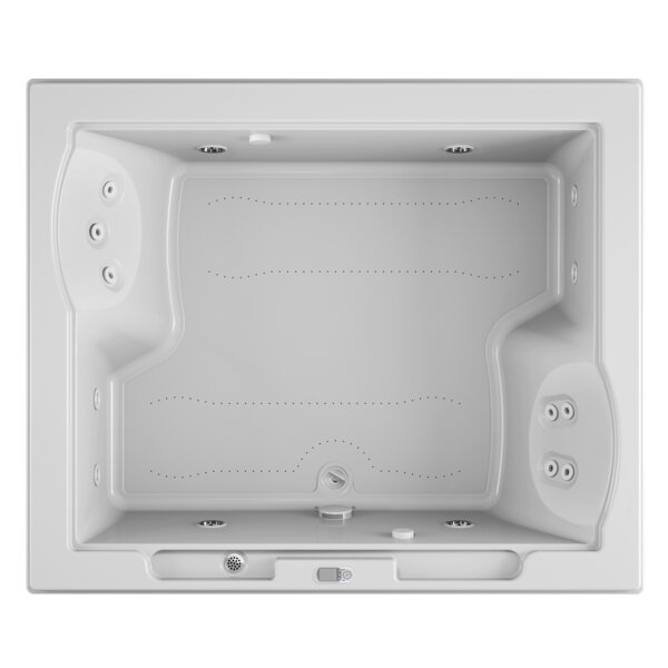 Fuzion Illuma LCD Whisper Right-Hand 72 x 60 Drop-In Salon Bathtub by Jacuzzi®