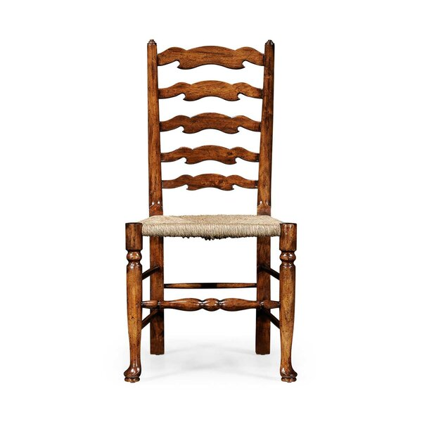 Painted Ladder Back Solid Wood Dining Chair (Set of 2) by Jonathan Charles Fine Furniture Jonathan Charles Fine Furniture