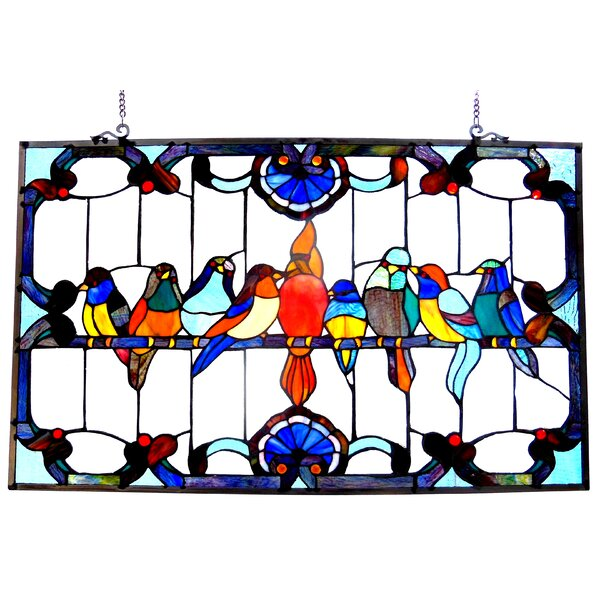 Beley Gathering Birds Window Panel by Astoria Grand