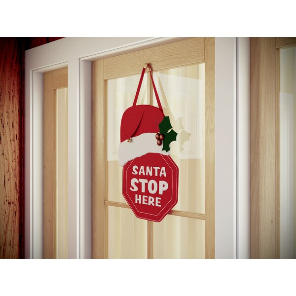 Santa Stop Here Lighted Door Decor by The Holiday Aisle