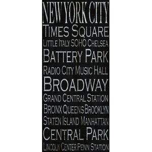 'New York City Typography Landmarks' Textual Art on Wrapped Canvas by Buy Art For Less