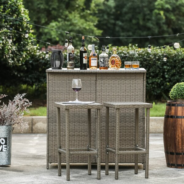 Kortright 3 Piece Bar Set by Bayou Breeze