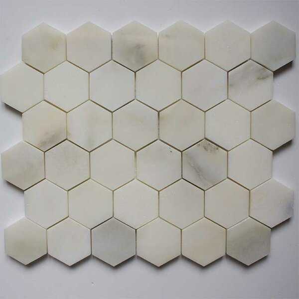 2 x 2 Marble Mosaic Tile in Calacatta by Ephesus Stones