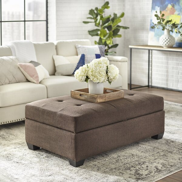 Farnum Lucent Storage Ottoman by Ebern Designs