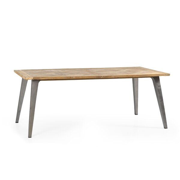 Hamlet Recycled Mosaic Teak Dining Table by Union Rustic