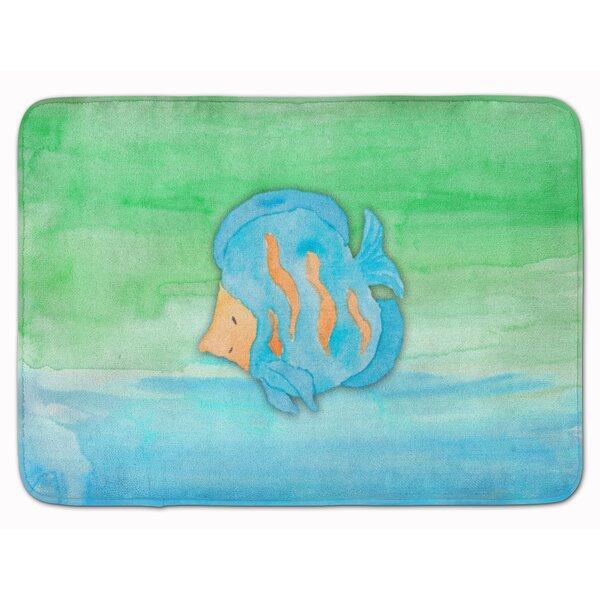 Fish Watercolor Memory Foam Bath Rug by East Urban Home
