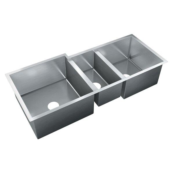 45 L x 20 W Triple Bowl Undermount Kitchen Sink by Just Manufacturing