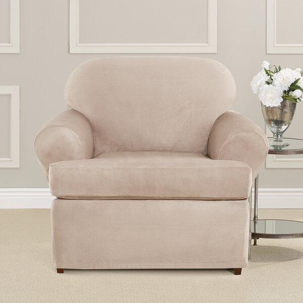 Ultimate Heavyweight Stretch Suede T-Cushion Armchair Slipcover by Sure Fit