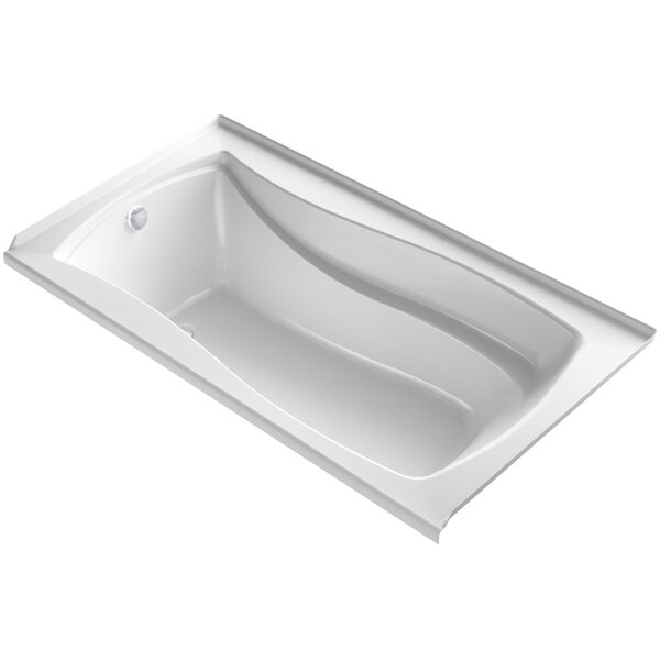 Mariposa Alcove Bubblemassage 66 x 36 Soaking Bathtub by Kohler