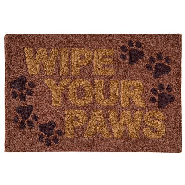 Hornberger Wipe Your Paws Wool Brown Area Rug by Winston Porter