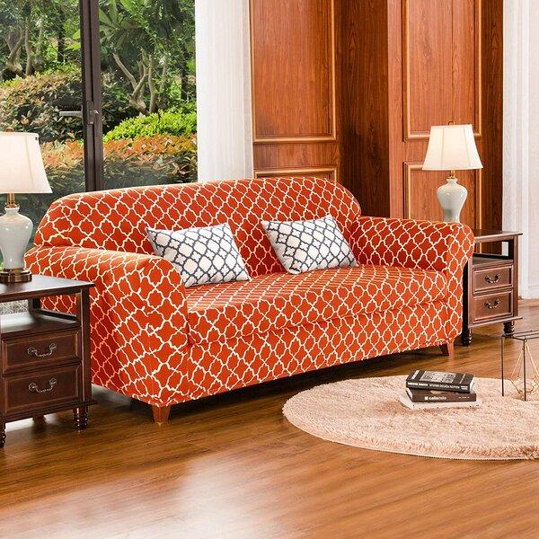 Cloud Printed Box Cushion Sofa Slipcover By Charlton Home