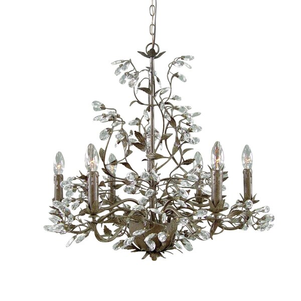 Colonial 6-Light Candle Style Chandelier by Ophelia & Co.