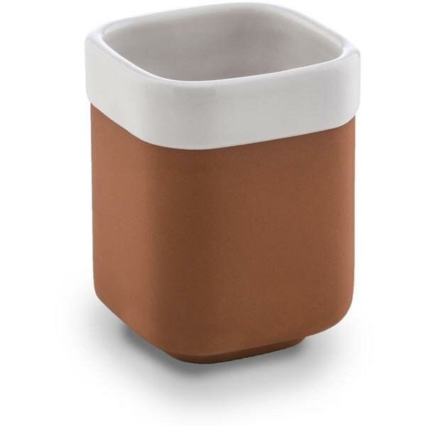 Cozad Brick Round Toothbrush & Tumbler Holder by Ebern Designs