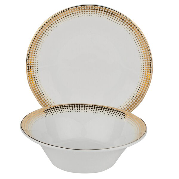Ambassador Bone China 24 Piece Completer Set by Shinepukur Ceramics USA, Inc.