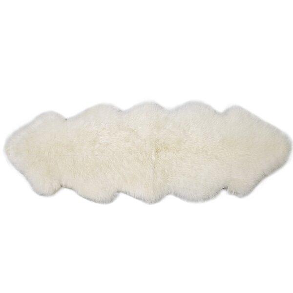 Double Pelt Ivory Area Rug by Fibre by Auskin