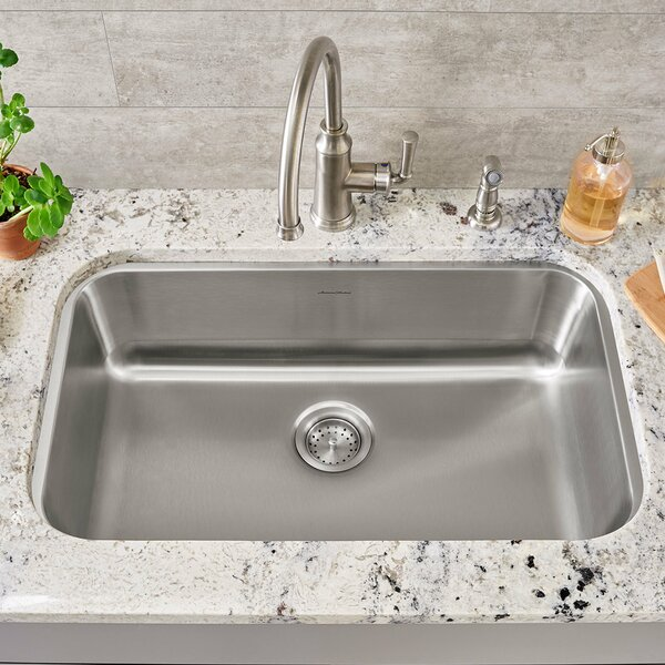 Portsmouth 29.75 L x 18 W Single Bowl Undermount Kitchen Sink by American Standard