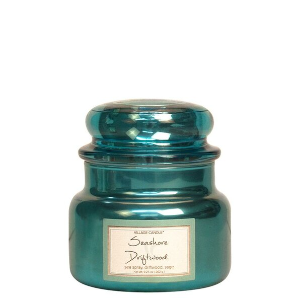 Metallic Seashore Driftwood Scented Jar Candle by Village Candle