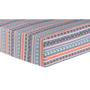 Buy clear Vandeventer Moose Aztec Deluxe Flannel Fitted Crib Sheet ByHarriet Bee