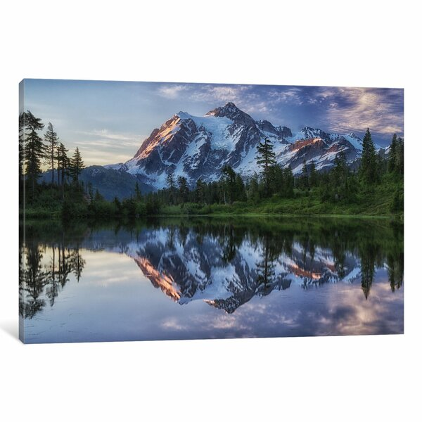 Sunrise On Mount Shuksan Photgraphic Print on Wrapped Canvas by Loon Peak