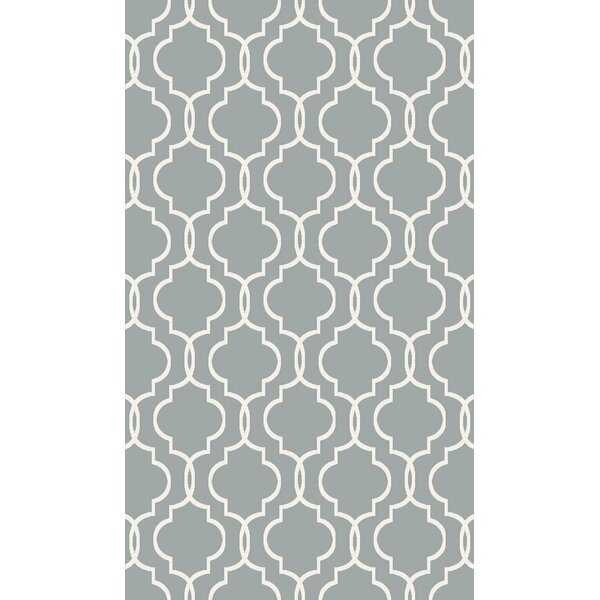 Larrabee Decorative Modern Contemporary Southwestern Gray Area Rug by Charlton Home