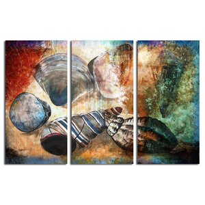 Shells 3 Piece Graphic Art on Canvas Set by Ready2hangart