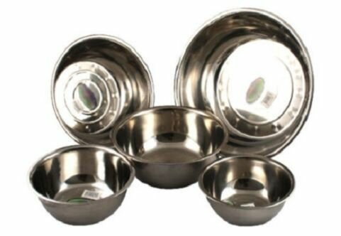 5 Piece Utensils Bake Prep Mixing Bowls Basins Set by Concord Cookware