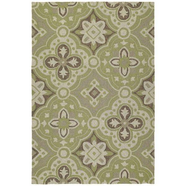 Cavour Wasabi Floral Indoor/Outdoor Area Rug by Winston Porter
