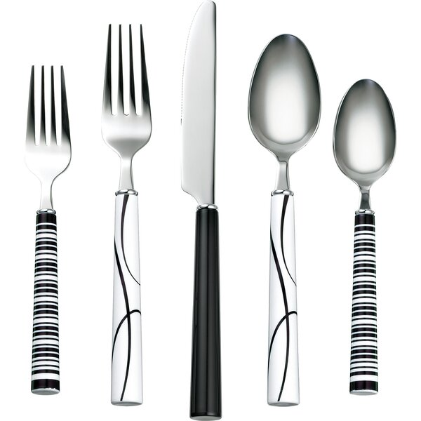 Simple Lines 20-Piece 18/0 Stainless Steel Flatware Set by Corelle