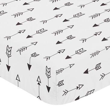 Fox Arrow Print Fitted Crib Sheet by Sweet Jojo Designs