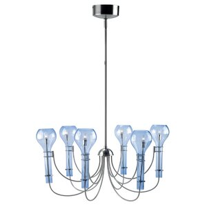 Rainford Glass 6-Light Candle-Style Chandelier