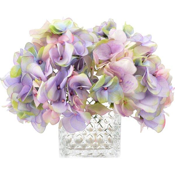 Soft Hydrangeas Centerpiece in Vase by Rosdorf Park