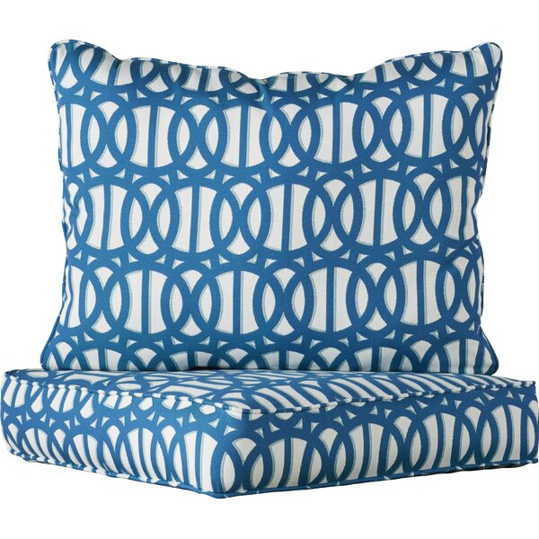 2 Piece Indoor/Outdoor Sunbrella Chair Cushion Set by Darby Home Co