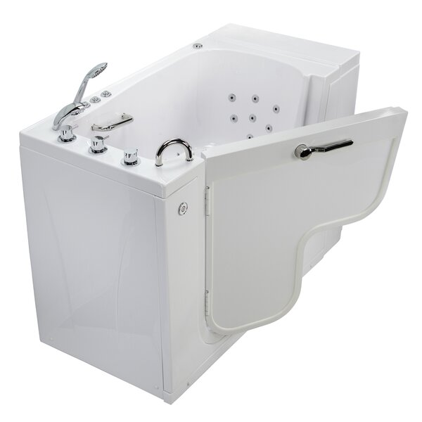 Transfer L Shape Wheelchair Accessible Air Massage Microbubble 52 x 30 Combination Bathtub by Ella Walk In Baths