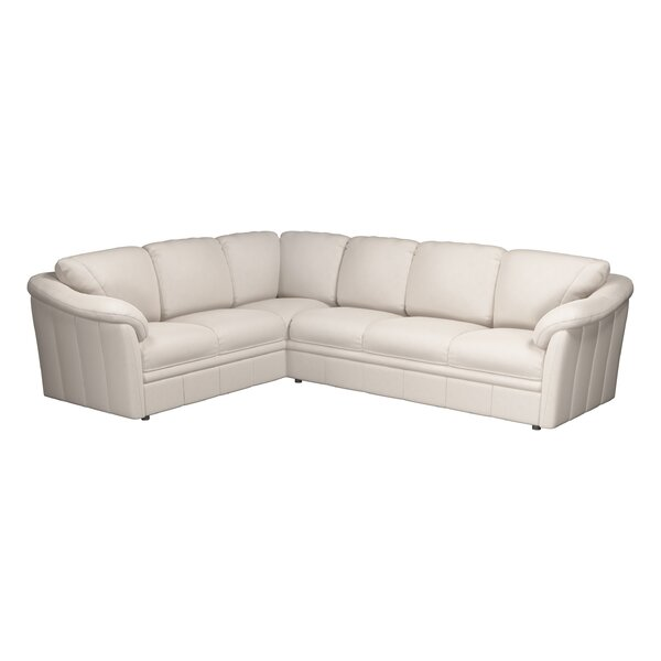 Lyons Leather Sectional By Westland And Birch