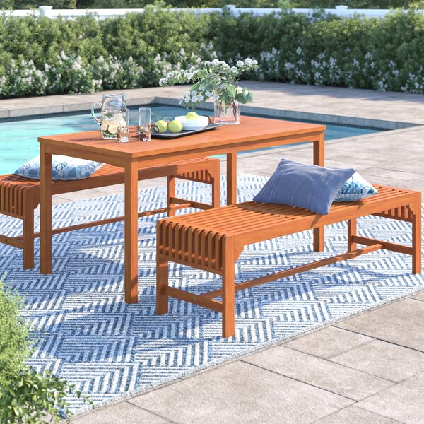 Amabel 3 Piece Dining Set by Beachcrest Home
