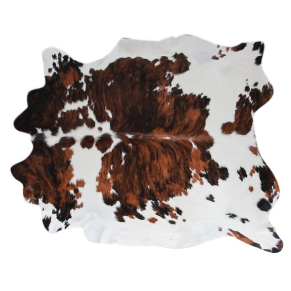 Cowhide Hand-Woven Brown/Black Area Rug by Pergami