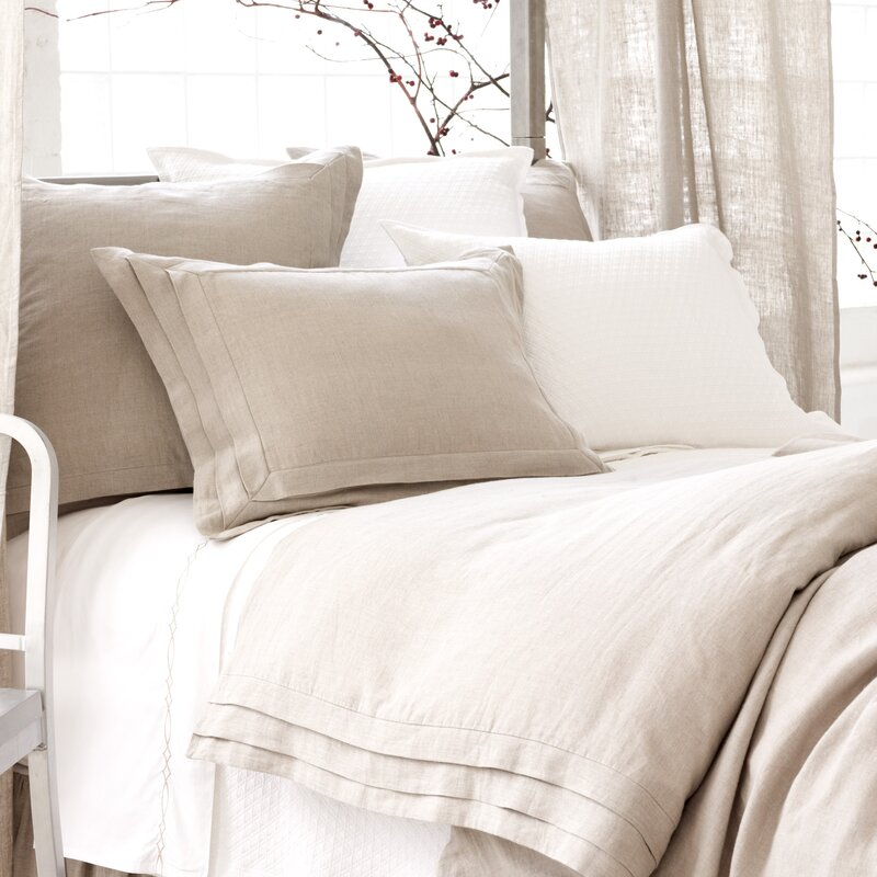 Pleated Linen Duvet Cover